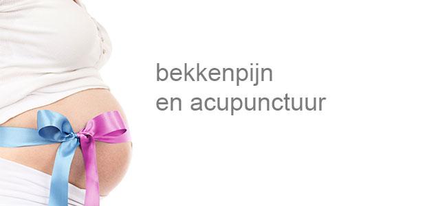 Acupunctuur bij bekkenpijn ontstaan tijdens zwangerschap