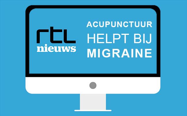 Acupunctuur helpt bij migraine