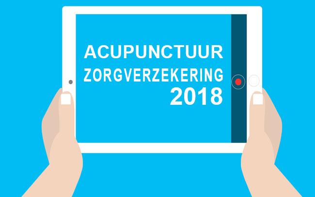 Vergoeding acupunctuur zorgverzekeringen 2018 weer bekend!