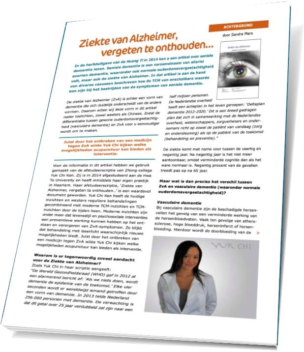 Ziekte van alzheimer acupunctuur artikel