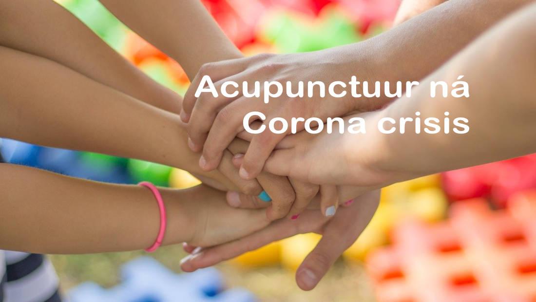 Acupunctuur na Corona crisis